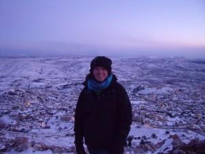 Hannah On Mount Hermon-Majdal Shams-Golan Heights-5th Feburary 2010