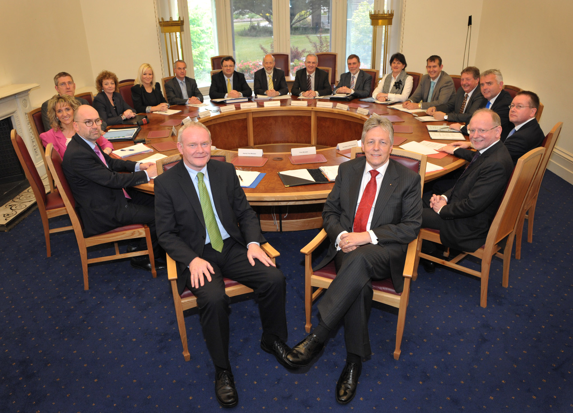 NI Executive parties at the Haass Talks roundtable  © NI Executive. Photography by Aaron McCracken, Harrisons Photography.